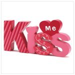 Kiss Me Decor Wood Sign Decorative Valentines Day Gift