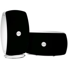 Pure Jongo T6 Wireless Speaker (Black/White) in the vertical position