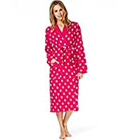 Pure Cotton Spotted Waffle Dressing Gown