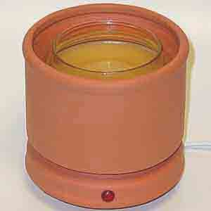 Cachepot Electric Candle Warmer - Terra Cotta, A decorative jar candle holder and candle warmer in one # 62264