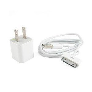 USB Wall Charger Adapter data cable iTouch iPhone iPod