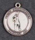 Boys St. Christopher Sterling Silver Volleyball Necklace