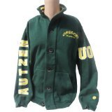 Officially Licensed by NCAA Oregon Ducks Green Button Collar Jacket
