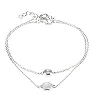 M&S Collection Finest Sterling Silver Crystal Stone Necklace