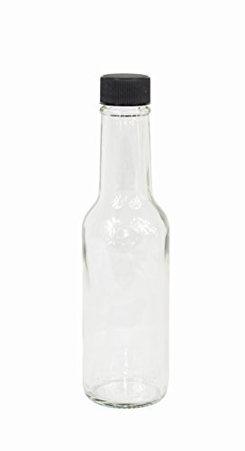 2dayShip Hot Sauce Clear Glass Dasher Bottle, 5oz, 24 Pack