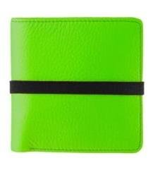 Marc By Marc Jacobs Pebble Leather Elastic Billfold Wallet Green