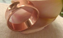 Solid Copper Ring CR041 Size 10