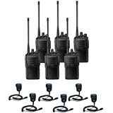 6 Pack of Motorola VX-261 UHF Two Way Radios PREPROGRAMMED with 6 Speaker Mics (MH-450)