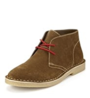 Suede Lace Up Desert Boots with Stain Resistant™
