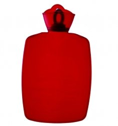 Warm Tradition Transparent Red Classic Hot Water Bottle - Made In Germany