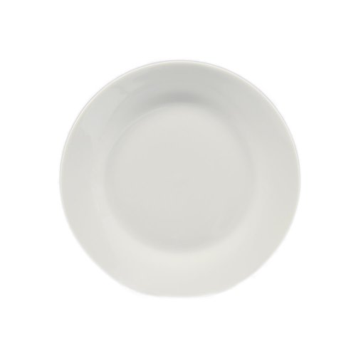 Cac China H-7 Porcelain Round Plate, 7-1/2-Inch, Super White, Box Of 36