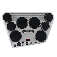8-Pad Digital Drum Machine With Touch-Sensitive Pads