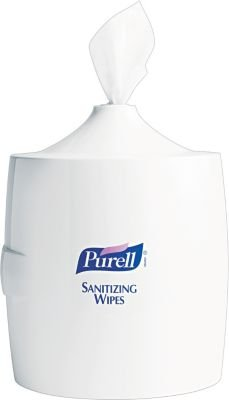 Purell® Plastic Sanitizing Wipes Wall Mount Dispenser, White front-707227