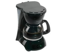 Continental Electric 4-Cup Coffee Maker, Black