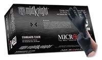 """Microflex (MFXMK296S MidKnight), colore: nero polvere Guanti in Nitrile, taglia L """""""