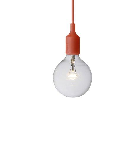 Muuto Leuchte muuto leuchte hängeleuchte e27 rot matthias stahlbom silikon