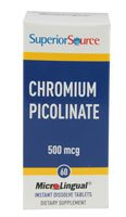Superior Source Chromium Picolinate -- 500 Mcg - 60 Microlingual Tablets