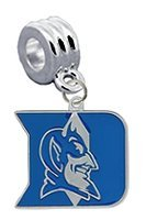 Duke Blue Devils Charm with Connector - Universal European Slide On Charm -