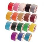 Tape Brothers Shorties Duct Tape 2 in x 10 yd rolls, Craft Grade, 18 colors