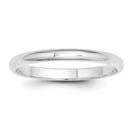 Genuine IceCarats Designer Jewelry Gift Platinum 2Mm Half-Round Wedding Band Size 7.00