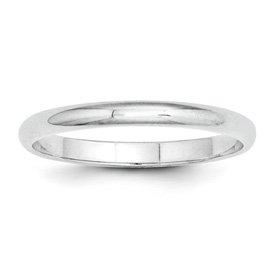 Genuine IceCarats Designer Jewelry Gift Platinum 2Mm Half-Round Wedding Band Size 7.00