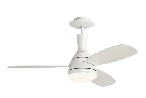 Westinghouse 7259800 Cumulus One-Light Reversible Three-Blade Indoor Ceiling Fan, 48-Inch, White Finish With Frosted Acid Etched Glass front-582623