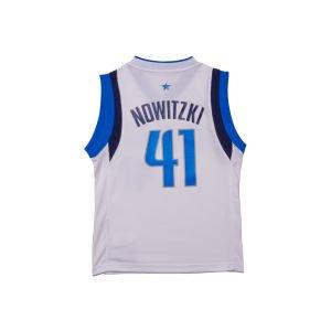 Dirk Nowitzki White Adidas NBA Revolution 30 Replica Dallas Mavericks Youth Jersey SMALL