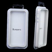 Fashion Plastic Bumper Frame Case for iPhone 5-Grey and White
