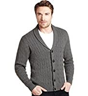 XXXL Blue Harbour Pure Cotton Shawl Collar Cable Knit Cardigan