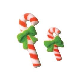 Edible Sugar Candy Cane Dec Ons, Set of 10