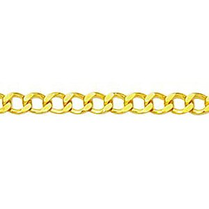 14K Solid Yellow Gold Comfort Curb Chain Necklace 2.6mm thick 24 Inches