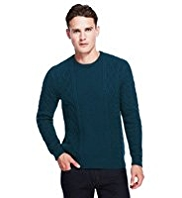 Autograph Cable Knit Jumper with Wool