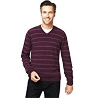Cashmilon™ V-Neck Striped Jumper