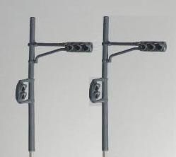 Nゲージ 直線道路用 5灯信号機 音響なし  2信号 ST5-02