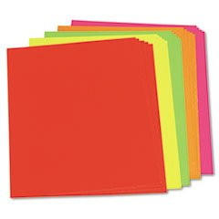 ** Neon Color Poster Board, 28 x 22, Green/Pink/Red/Yellow, 25/Carton