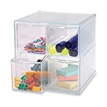 Sparco Removeable 6 x 6 3.4 x 6 Inch,Storage Drawer Organizer