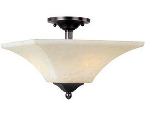 Maxim Lighting 12420FLHB 2 Light Mission Bay Semi Flush Ceiling
