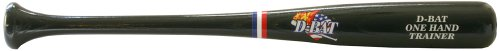 "D-Bat One Hand Trainer-Large 25"" Wood Baseball Bat (Black)"