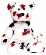 1 X Ty Beanie Buddies - Glory the Bear