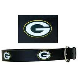 Embossed NFL Leather Belt - Green Bay Packers EMBT115-34 MEN