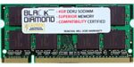 1GB Memory RAM for Asus eee PC 4G, 4G Surf, 8G, 900HDB, 904HD 200pin PC2-3200 400MHz DDR2 SO-DIMM Black Diamond Memory Module Upgrade