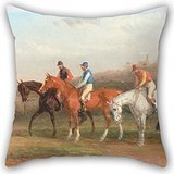[Uloveme Pillowcover Of Oil Painting William J. Shayer - Steeplechasing- At The Start 20 X 20 Inches / 50 By 50 Cm,best Fit For Dining Room,bedroom,family,him,lounge,outdoor Two] (Animal That Starts With J)