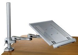 Articulating Laptop and Keyboard Arm Tray Clamp and Wall mount