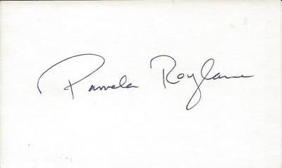 Pamela Roylance Signed Index Card The Social Network Slumber Party Massacre