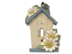 Rustic Blue Birdhouse Single Switch Plate Cover