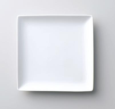 エルウェア V スクエア プレート ホワイト 13cm SSサイズ 白磁 磁器