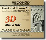 RECON3D Vol.1 & 2 Bundle: Greek, Roman, Medieval Art, 3D Content Collection (3DS, DXF Formats)