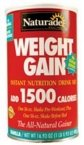 Weight Gain-Vanilla No Sugar - 18 oz - Powder