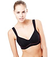 High Impact Underwired Push Up Sports A-DD Bra