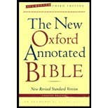 The New Oxford Annotated Bible, New Revised Standard Version, Third Edition (Hardcover Indexed 9700)